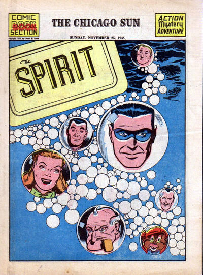 Cover for The Spirit (Register and Tribune Syndicate, 1940 series) #11/25/1945