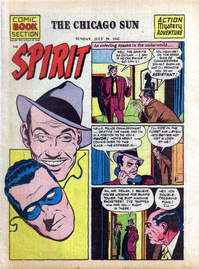 Cover for The Spirit (Register and Tribune Syndicate, 1940 series) #7/29/1945