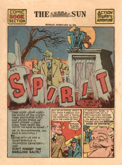 Cover for The Spirit (Register and Tribune Syndicate, 1940 series) #2/14/1943