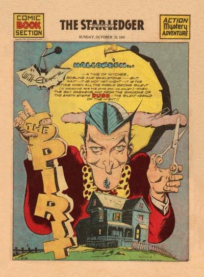 Cover for The Spirit (Register and Tribune Syndicate, 1940 series) #10/26/1941 [Newark NJ Star Ledger edition]