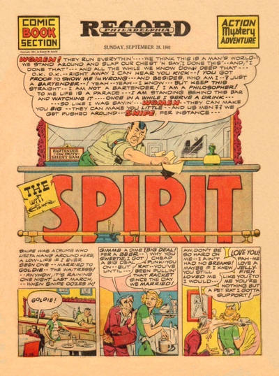 Cover for The Spirit (Register and Tribune Syndicate, 1940 series) #9/28/1941