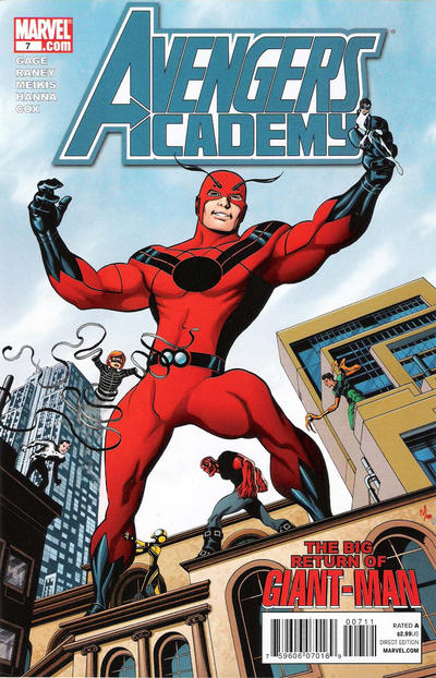 Cover for Avengers Academy (Marvel, 2010 series) #7 [Tron Variant]