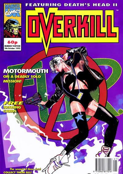 Cover for Overkill (Marvel UK, 1992 series) #13