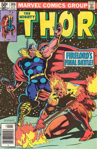 Cover Thumbnail for Thor (Marvel, 1966 series) #306 [Newsstand]