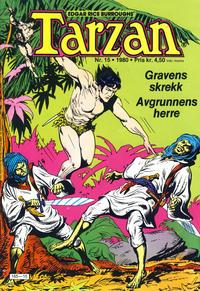 Cover Thumbnail for Tarzan (Atlantic Forlag, 1977 series) #15/1980