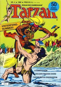 Cover Thumbnail for Tarzan (Atlantic Forlag, 1977 series) #4/1980