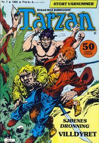 Cover Thumbnail for Tarzan (Atlantic Forlag, 1977 series) #7/1980