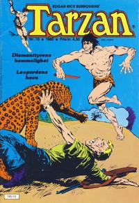 Cover Thumbnail for Tarzan (Atlantic Forlag, 1977 series) #10/1980