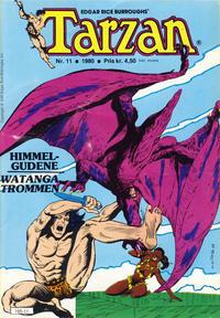 Cover Thumbnail for Tarzan (Atlantic Forlag, 1977 series) #11/1980