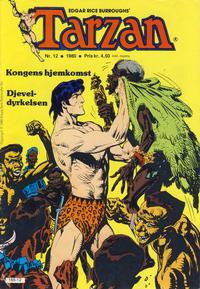 Cover Thumbnail for Tarzan (Atlantic Forlag, 1977 series) #12/1980