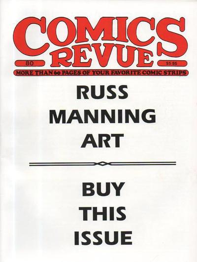 Cover for Comics Revue (Manuscript Press, 1985 series) #80