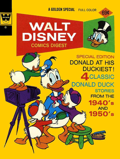 Cover for Walt Disney Comics Digest (Western, 1968 series) #44 [Whitman]