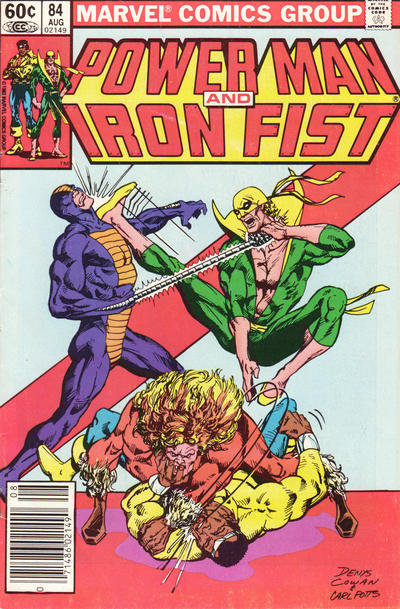 Cover for Power Man and Iron Fist (Marvel, 1981 series) #84 [newsstand]