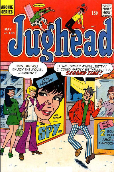 Cover for Jughead (Archie, 1965 series) #180
