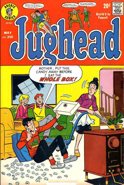Cover for Jughead (Archie, 1965 series) #216