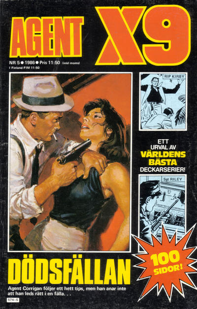 Cover for Agent X9 (Semic, 1971 series) #5/1986