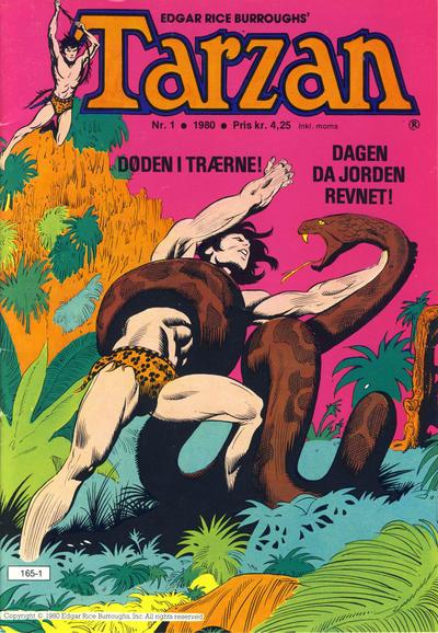 Cover for Tarzan (Atlantic Forlag, 1977 series) #1/1980