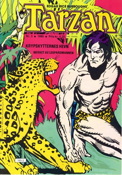 Cover for Tarzan (Atlantic Forlag, 1977 series) #3/1980