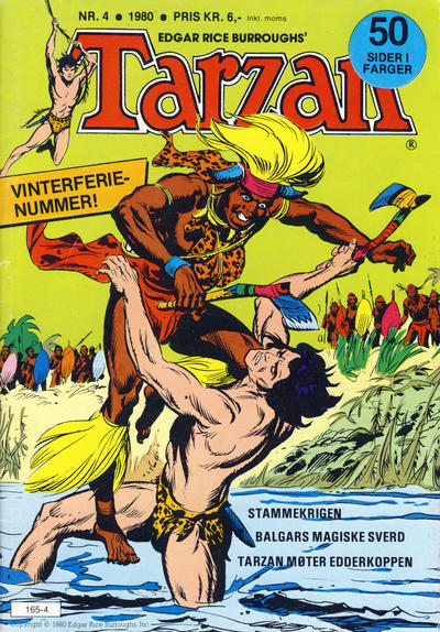 Cover for Tarzan (Atlantic Forlag, 1977 series) #4/1980