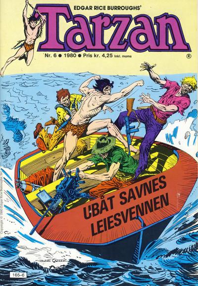 Cover for Tarzan (Atlantic Forlag, 1977 series) #6/1980
