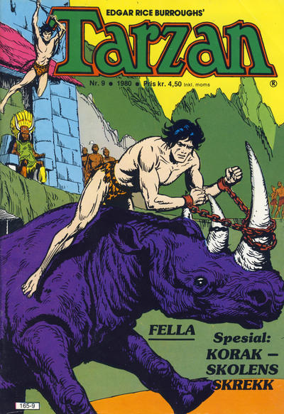 Cover for Tarzan (Atlantic Forlag, 1977 series) #9/1980