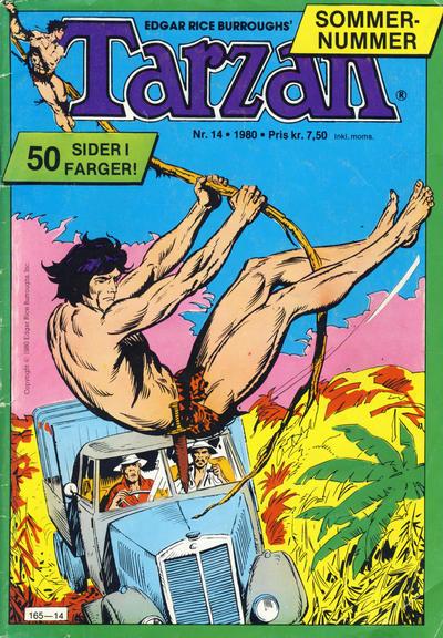 Cover for Tarzan (Atlantic Forlag, 1977 series) #14/1980
