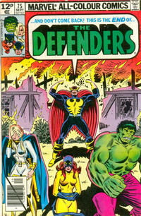 Cover Thumbnail for The Defenders (Marvel, 1972 series) #75 [British Price Variant]