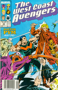 Cover Thumbnail for West Coast Avengers (Marvel, 1985 series) #36 [Newsstand Edition]