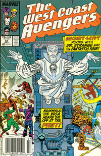 Cover Thumbnail for West Coast Avengers (Marvel, 1985 series) #22 [Newsstand Edition]