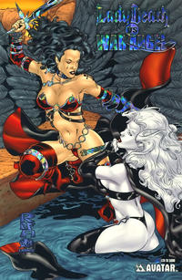Cover Thumbnail for Brian Pulido's Lady Death vs War Angel (Avatar Press, 2006 series) #1 [Prism Foil]