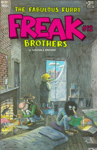 Cover Thumbnail for The Fabulous Furry Freak Brothers (Rip Off Press, 1971 series) #12 [3.25 USD 2nd print]