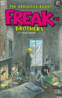 Cover Thumbnail for The Fabulous Furry Freak Brothers (Rip Off Press, 1971 series) #12 [3.95 USD 3rd print]