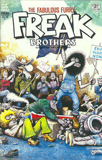 Cover Thumbnail for The Fabulous Furry Freak Brothers (Rip Off Press, 1971 series) #13 [3.95 USD 2nd print]