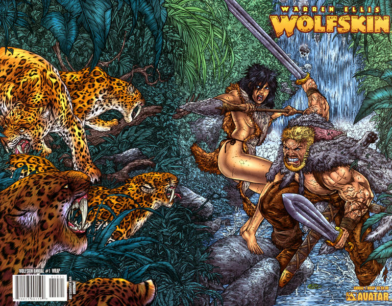 Cover for Warren Ellis' Wolfskin Annual (Avatar Press, 2008 series) #1 [Auxiliary]