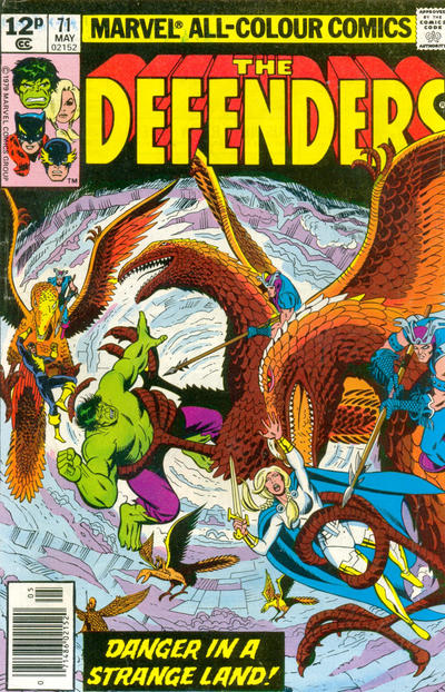 Cover for The Defenders (Marvel, 1972 series) #71 [British]