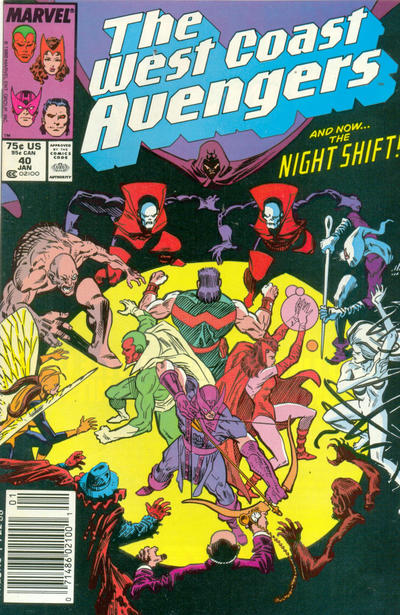 Cover for West Coast Avengers (Marvel, 1985 series) #40 [Direct Edition]