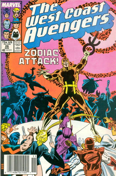 Cover for West Coast Avengers (Marvel, 1985 series) #26 [Newsstand Edition]