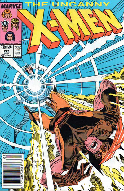 Cover for The Uncanny X-Men (Marvel, 1981 series) #221 [Newsstand]