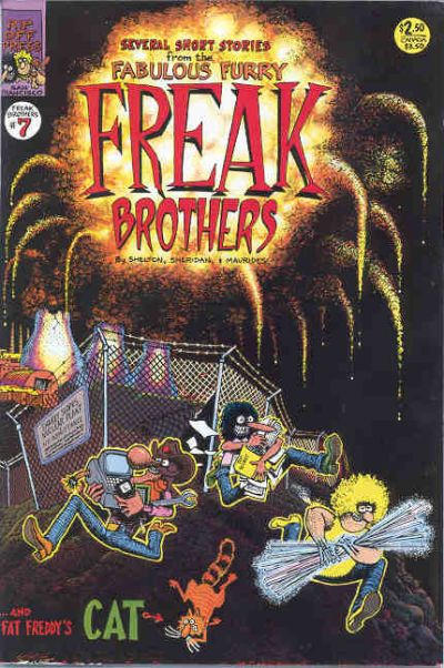 Cover for The Fabulous Furry Freak Brothers (Rip Off Press, 1971 series) #7 [3.95 USD 5th print]