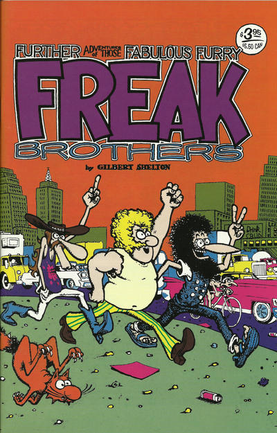 Cover for The Fabulous Furry Freak Brothers (Rip Off Press, 1971 series) #2 [1.25 USD 10th print]