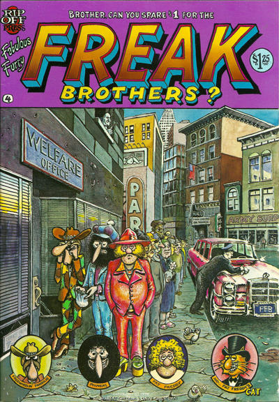 Cover for The Fabulous Furry Freak Brothers (Rip Off Press, 1971 series) #4