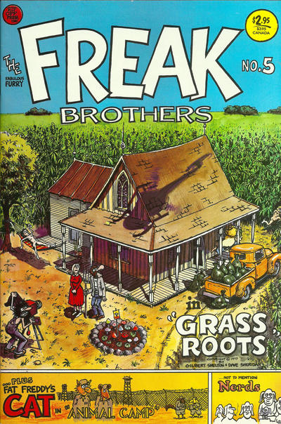 Cover for The Fabulous Furry Freak Brothers (Rip Off Press, 1971 series) #5 [3.95 USD 9th print]