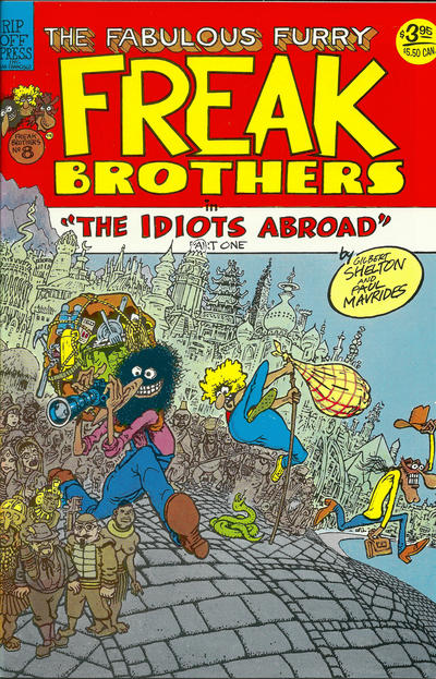 Cover for The Fabulous Furry Freak Brothers (Rip Off Press, 1971 series) #8 [2.95 USD 3rd print]