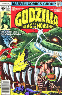 Cover Thumbnail for Godzilla (Marvel, 1977 series) #3 [35¢ Price Variant]