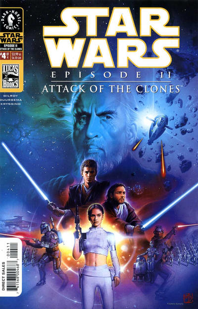 Cover for Star Wars: Episode II - Attack of the Clones (Dark Horse, 2002 series) #4 [Cover B - Photo Cover Newsstand]