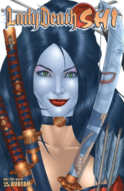 Cover for Lady Death / Shi (Avatar Press, 2007 series) #1 [Royal Blue]