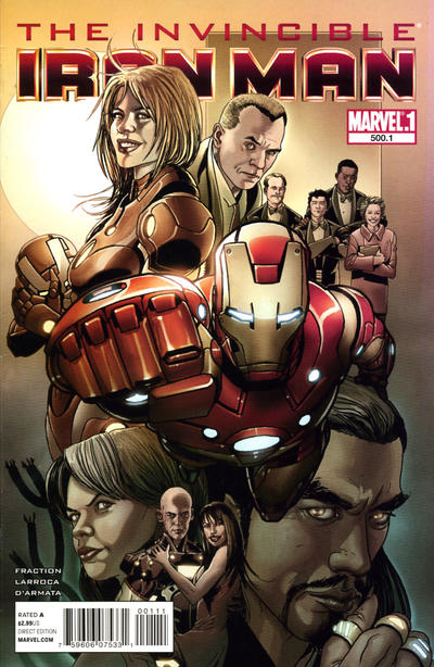 Cover for Invincible Iron Man (Marvel, 2008 series) #500.1