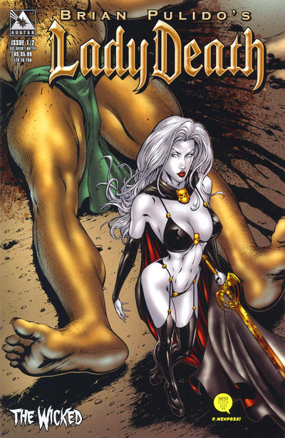 Cover for Lady Death: The Wicked (Avatar Press, 2005 series) #1/2 [Gold Foil]