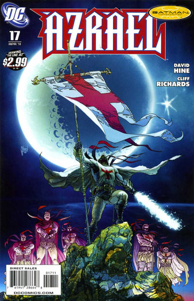 Cover for Azrael (DC, 2009 series) #17