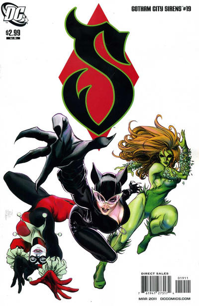 Cover for Gotham City Sirens (DC, 2009 series) #19